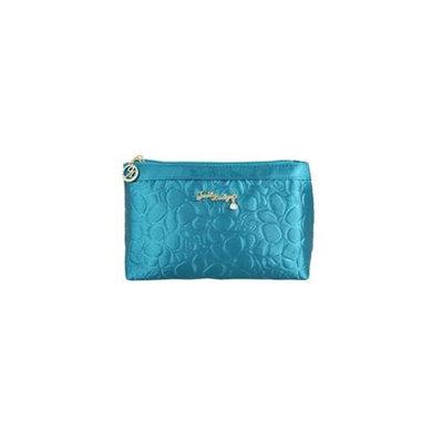 Jacki Design ABC14018BU Royal Blossom Flat Cosmetic Bag Blue