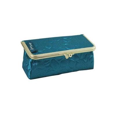 Jacki Design ABD14031BU Royal Blossom Clasp Cosmetic Bag & Eyeglass Case Blue