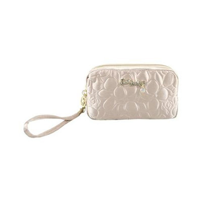 Jacki Design ABC14016CH Royal Blossom Cosmetic Bag With Wristlet Champagne