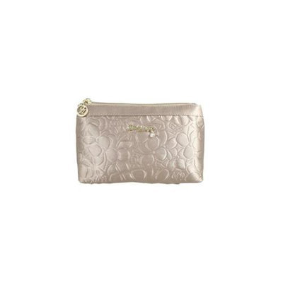Jacki Design ABC14018CH Royal Blossom Flat Cosmetic Bag Champagne