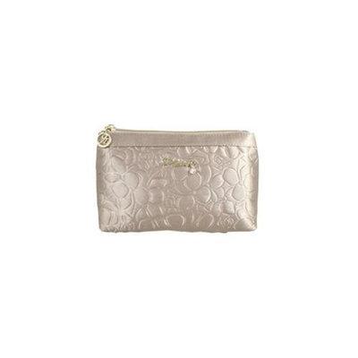 Jacki Design ABC14018CH Royal Blossom Flat Cosmetic Bag Champagne