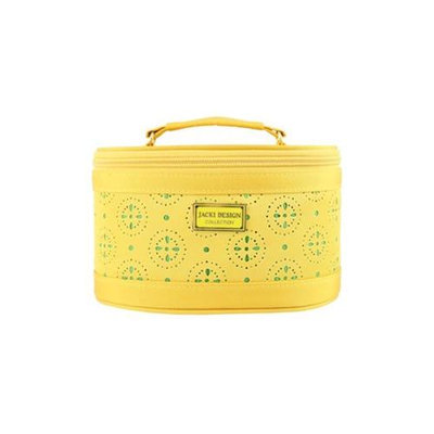 Jacki Design ABD38015YL Cosmopolitan Beauty Train Case Yellow
