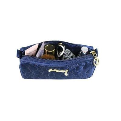 Jacki Design ABC14017DB Royal Blossom Compact Cosmetic Bag Dark Blue