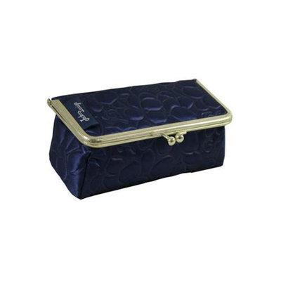 Jacki Design ABD14031DB Royal Blossom Clasp Cosmetic Bag & Eyeglass Case Dark Blue