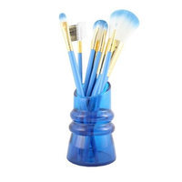 Jacki Design FYD38010BU Cosmopolitan 7Pc Makeup Brush And Holder Set Blue