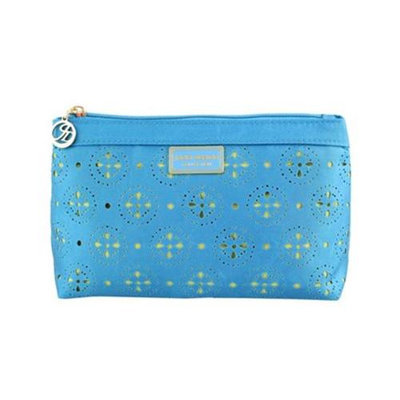 Jacki Design ABC38018BU Cosmopolitan Flat Cosmetic Bag Blue