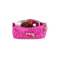 Jacki Design ABC14017HP Royal Blossom Compact Cosmetic Bag Hot Pink