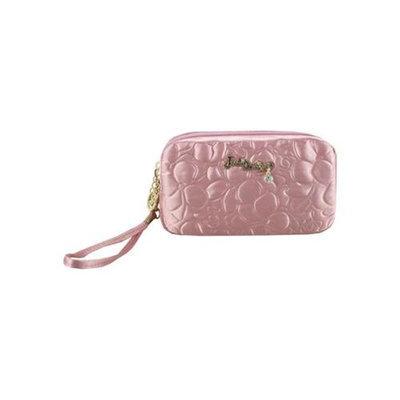Jacki Design ABC14016PK Royal Blossom Cosmetic Bag With Wristlet Pink