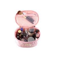 Jacki Design ABC14022PK Royal Blossom Beauty Bag Pink