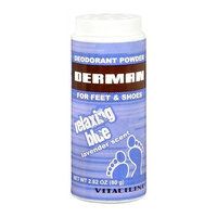 Derman Deodorant Powder Relaxing Blue Lavender Scent 2.82 Oz