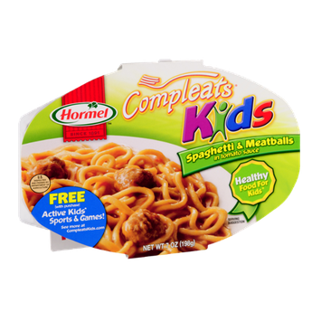 Hormel Compleats Kids Spaghetti & Meatballs