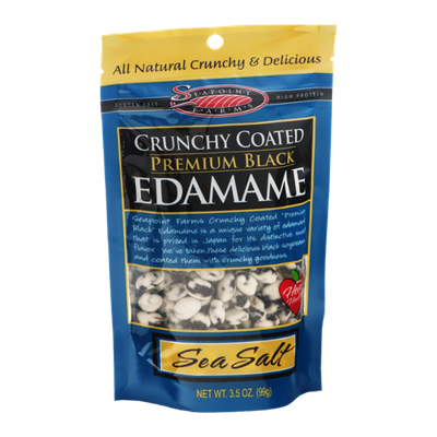 Seapoint Farms Crunchy Coated Premium Black Edamame Sea Salt