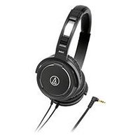 AUDIO-TECHNICA ATH-WS55BK SOLID BASS OVER-EAR HEADPHONES - BLACK