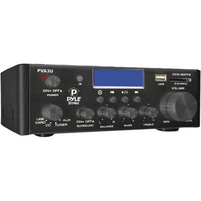 Pyle Home PVA3U 60W Hi-Fi Mini Amp with USB/SD Card Player