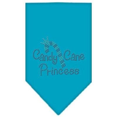 Mirage Pet Products 67-25-02 LGTQ Candy Cane Princess Rhinestone Bandana Turquoise Large