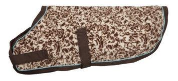 EOUS Patterned Fleece Dog Rug - Brown Floral X-Large Brown Floral