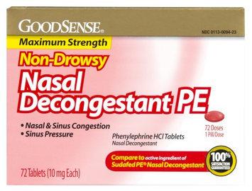Good Sense Non Drowsy Nasal Decongestant PE 72 Count