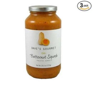 Daves Dave's Gourmet Butternut Squash Pasta Sauce, 25.5-Ounce Bottles (Pack of 3)
