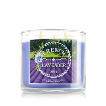 1 X NEW PROVENCE 2014 Bath & Body Works FRENCH LAVENDER 3 Wick Scented Candle 14.5 oz./411 g