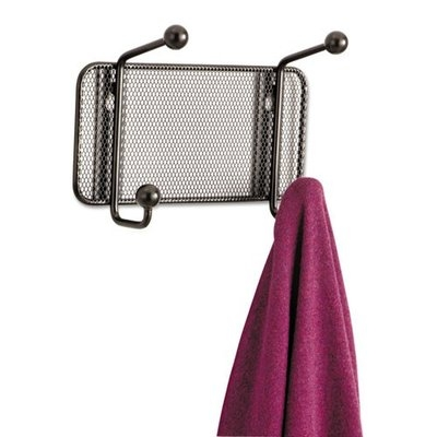 Safco Onyx Mesh Sturdy 2-Hook Garment Wall Rack