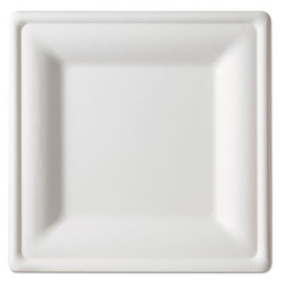 Eco Products Square Sugarcane Plate, 10