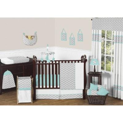 Crib Bedding Set Sweet JoJo Designs TRQ GRY WHT 11 Pk