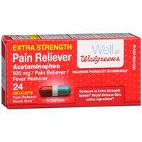 Walgreens Pain Reliever Extra Strength Quick Gel, 24 ea