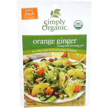 Simply Organic Certified Organic Orange Ginger Vinaigrette Mix