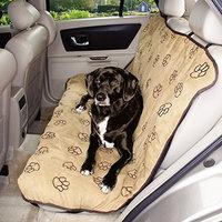 Cruising Companion Pawprint Car Seat Cover Camel