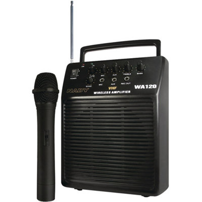 Nady NADY WA 120 HT/A (115) Portable VHF Wireless Pa System with Cardioid Dynamic Microphone
