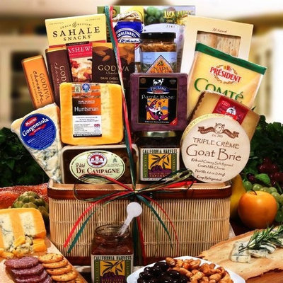 Alder Creek Gifts The Gift Basket Gallery Ultimate Gourmet Cheese Gift Basket - Price Includes 2 Day Shipping From The Gift Basket Gallery