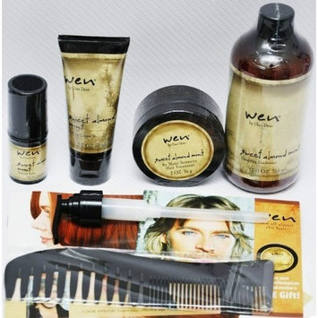 WEN BY CHAZ DEAN SWEET ALMOND CONDITONER, STYLING CREME, RE MOIST MASK INTENSIVE HAIR TREATMENT, TEXTURE BALM, WIDE TOOTH SHOWER COMB, 5 PIECE SET, 1 TIME SHIPMENT