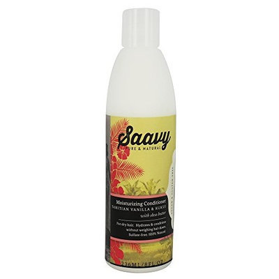 Saavy Naturals Sulfate-Free Conditioner Tahitian Vanilla & Kukui with shea butter 8oz [Tahitian Vanilla & Kukui with shea buttter]
