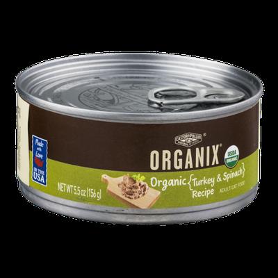 Castor & Pollux Organix Adult Cat Food Turkey & Spinach Recipe