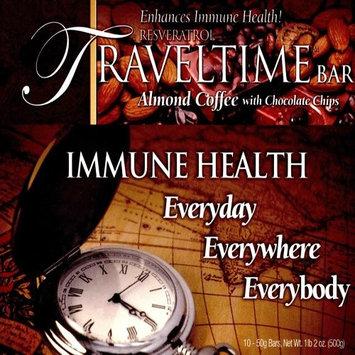 ResVez Inc. Resveratrol TravelTime Bar Almond Coffee with Chocolate Chips (10 bars)