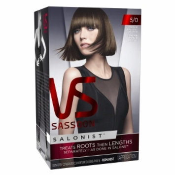 Vidal Sassoon Salonist Hair Colour Permanent Color, 5/0 Medium Natural Brown, 1 set