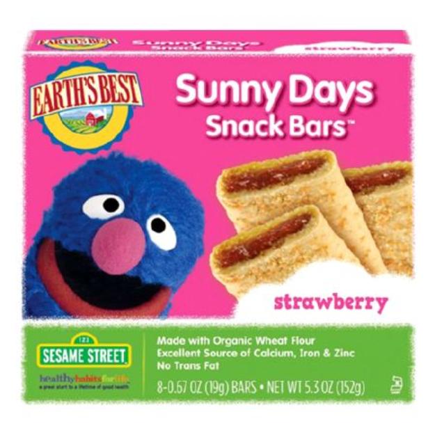 Earth's Best Sesame Street Organic Sunny Days Snack Bars