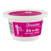 Friendship Fit to Go 1% Milkfat Cottage Cheese Small Curd