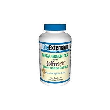 Life Extension Mega Green Tea with CoffeeGenic Green Coffee Extract 120 VegiCaps