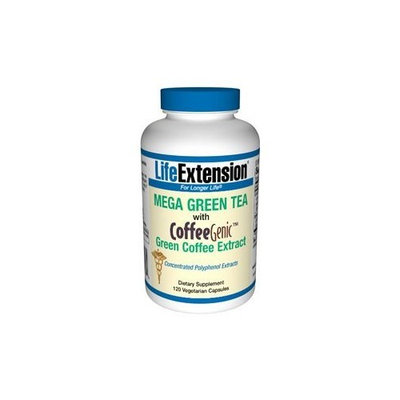 Life Extension Mega Green Tea with CoffeeGenic Green Coffee Extract 120 VegiCaps