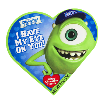 Frankford Monsters University Crispy Chocolate Hearts Box