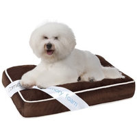 Simmons Comforpedic Orthopedic Napper Memory Foam Pet Bed, 20 by 30 by 4-Inch, Brown