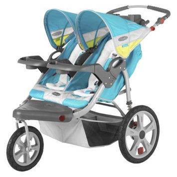 Instep Grand Safari Swivel Wheel Double Jogging Stroller - Gray/Yellow