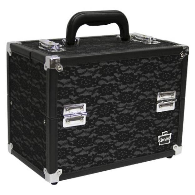 Caboodles Black LACE CASE - 11.25''