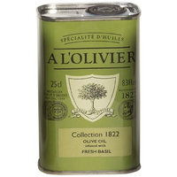 A L'Olivier Olive Oil Infused with Basil, 8.3-Ounce Tins (Pack of 2)