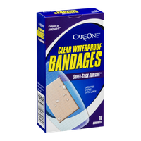 CareOne Clear Waterproof Bandages - 10 CT