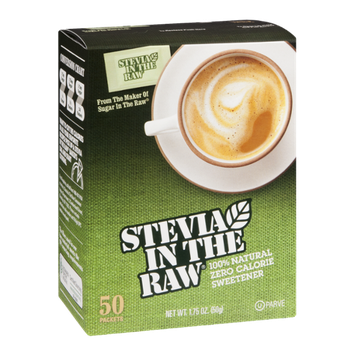 Stevia In The Raw 100% Natural Zero Calorie Sweetener - 50 CT