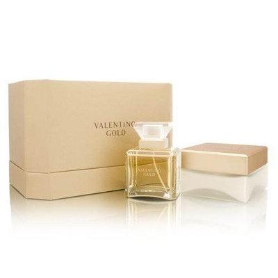 Valentino Gold By Valentino For Women. Set-eau De Parfum Spray 3.3 Ounces & Body Cream 5.5 Ounces