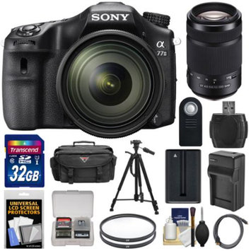 Sony Alpha A77 II Wi-Fi Digital SLR Camera & 16-50mm Lens with 55-300mm Lens + 32GB Card + Battery + Charger + Case + Tripod + Filters + Kit