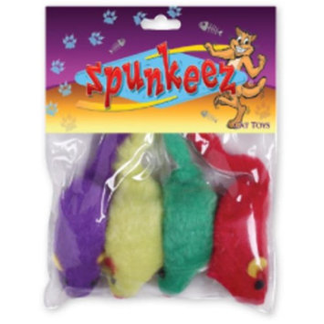 DDI 1483519 Spunkeez Plush Mice 4Ct 2 in.